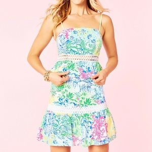Lilly Pulitzer Jan Peplum Top and Skirt Set